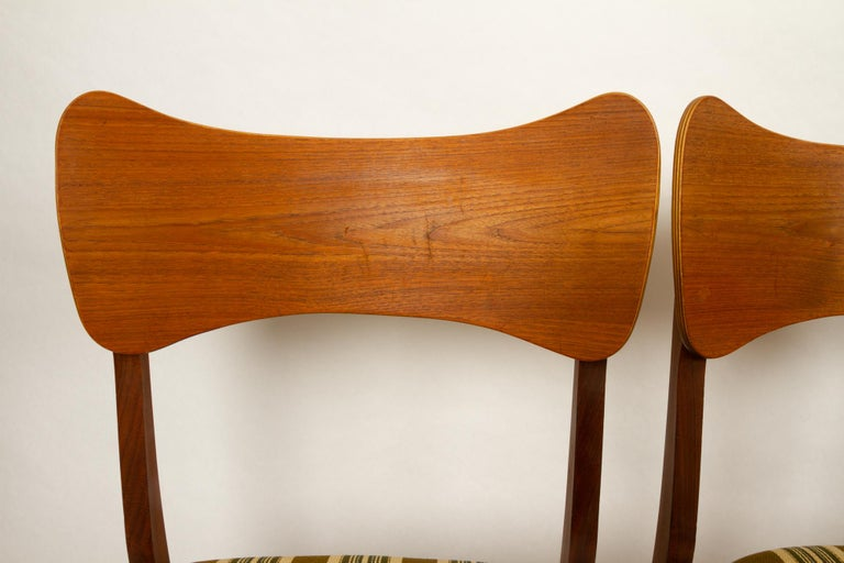 Vintage Danish Teak Dining Chairs 1960s Set of 4 For Sale 3