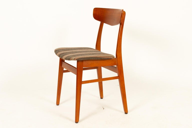 Vintage Danish Teak Dining Chairs 1960s Set of 6 For Sale 5