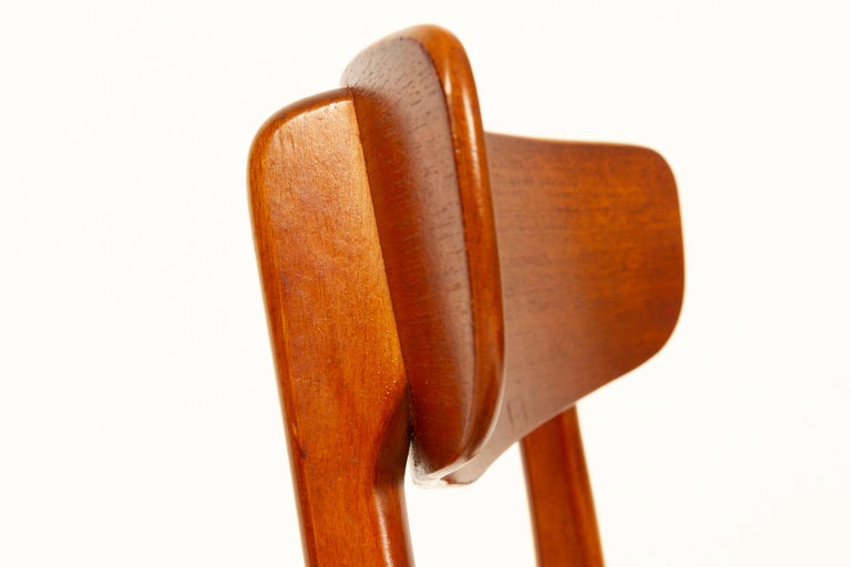 Vintage Danish Teak Dining Chairs 1960s Set of 6 For Sale 6