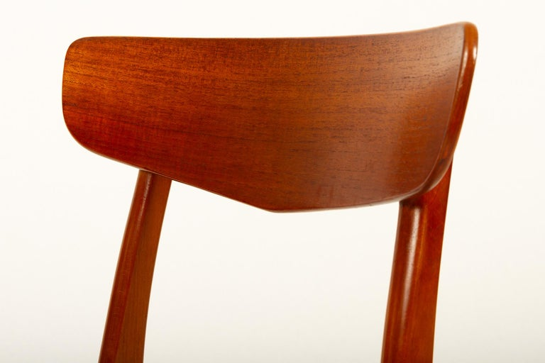 Vintage Danish Teak Dining Chairs 1960s Set of 6 For Sale 7