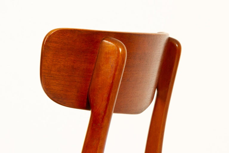 Vintage Danish Teak Dining Chairs 1960s Set of 6 For Sale 8