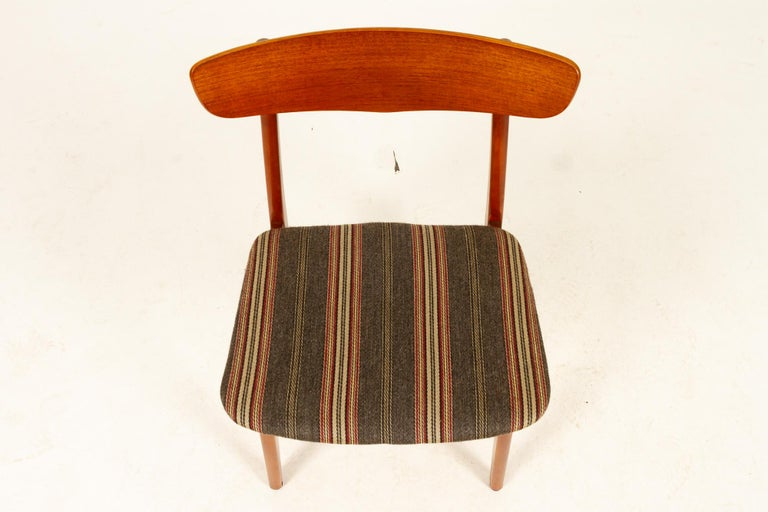 Vintage Danish Teak Dining Chairs 1960s Set of 6 For Sale 10