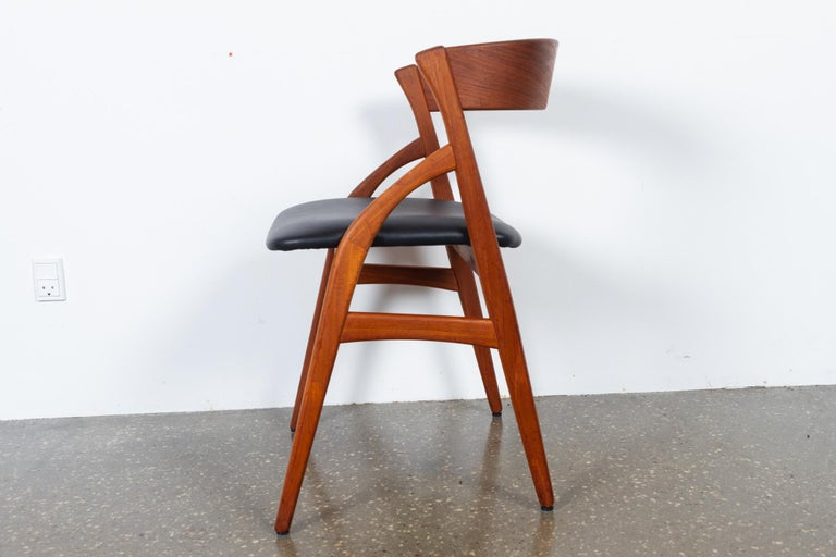 Vintage Danish Teak Dining Chairs 1960s Set of 6 For Sale 11