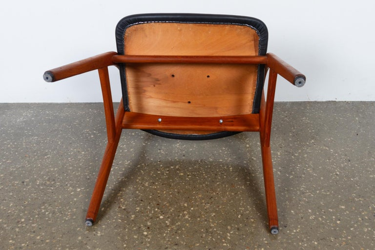 Vintage Danish Teak Dining Chairs 1960s Set of 6 For Sale 12