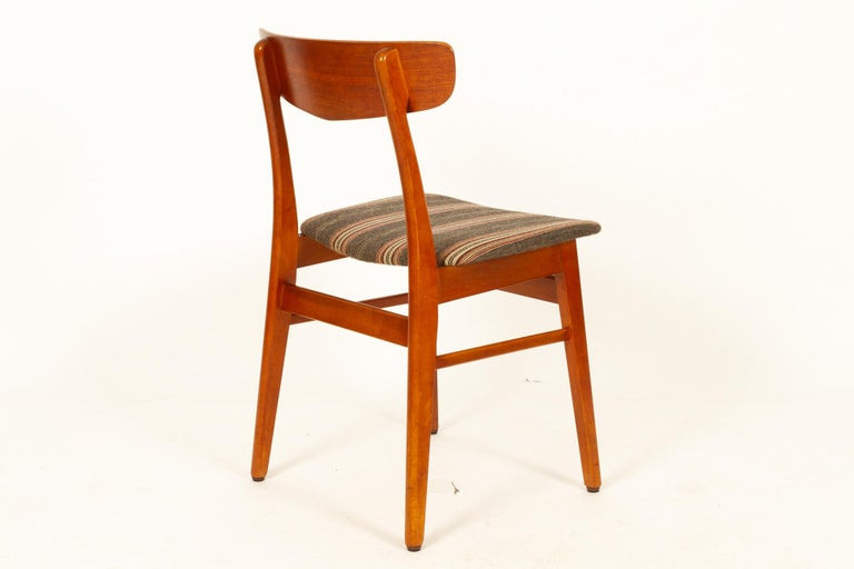 Vintage Danish Teak Dining Chairs 1960s Set of 6 For Sale 1