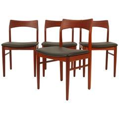 Vintage Danish Teak Dining Chairs by Henning Kjærnulf by Vejle Møbler, 1960s