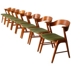 Vintage Danish Teak Dining Chairs by Korup Stolefabrik 1960s Set of 8