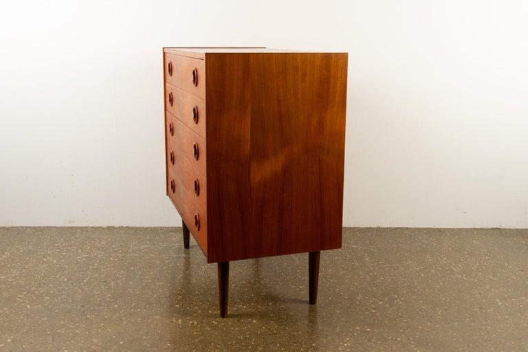 Mid-20th Century Vintage Danish Teak Dresser, 1960s For Sale