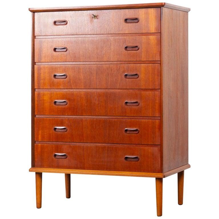Vintage Danish Teak Dresser, 1960s For Sale