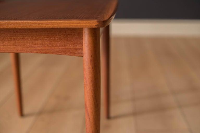 Vintage Danish Teak End Table by Møbelintarsia For Sale 5