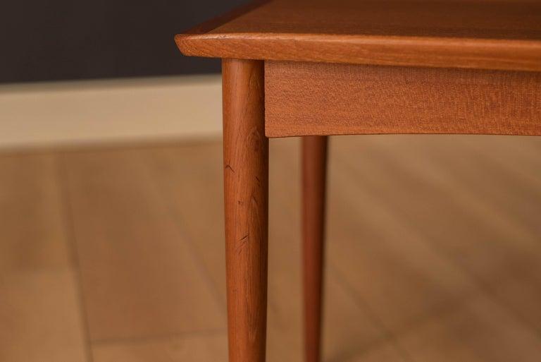 Vintage Danish Teak End Table by Møbelintarsia For Sale 6