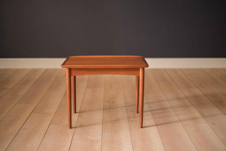 Scandinavian Modern Vintage Danish Teak End Table by Møbelintarsia For Sale