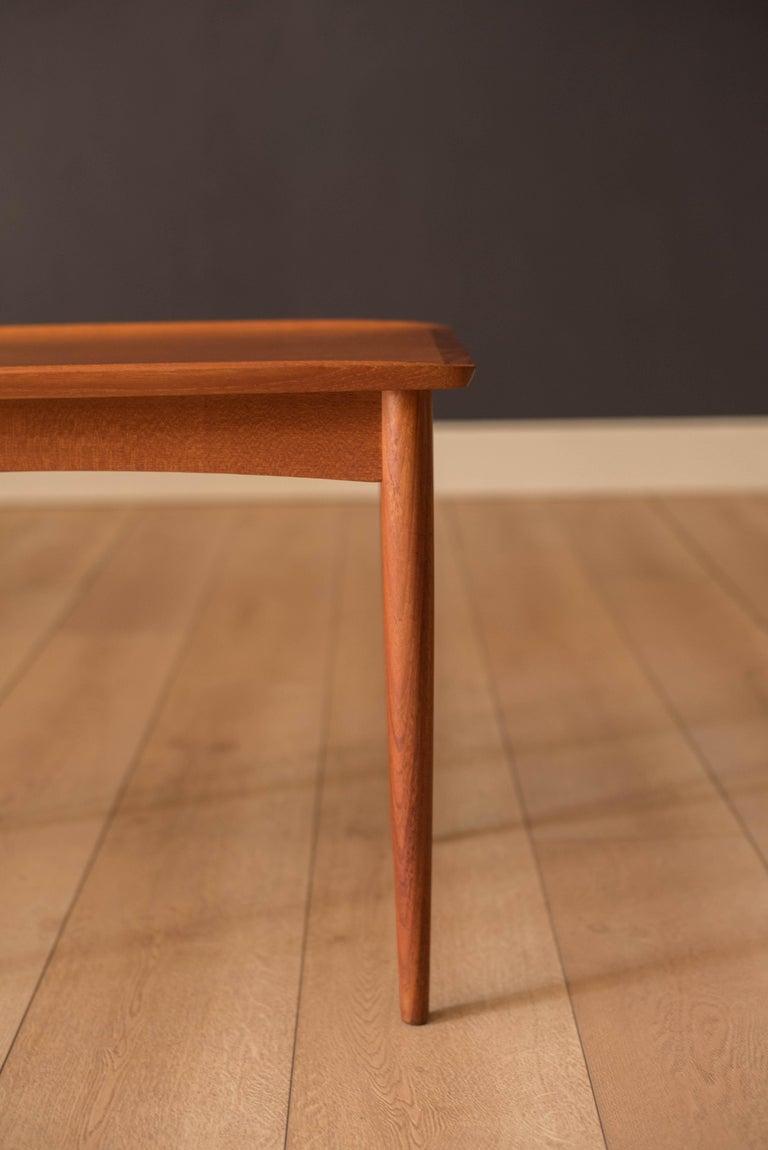 Vintage Danish Teak End Table by Møbelintarsia For Sale 1
