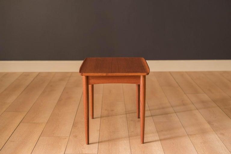 Vintage Danish Teak End Table by Møbelintarsia For Sale 2