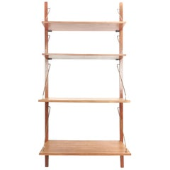 Vintage Danish Teak Floating Shelving System Wall Unit, 1960s