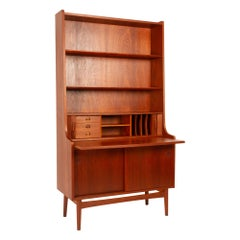 Vintage Danish Teak High Secretaire by Johannes Sorth, 1960s