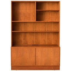 Vintage Danish Teak Hundevad & Co. Bookcase Cabinet by Carlo Jensen
