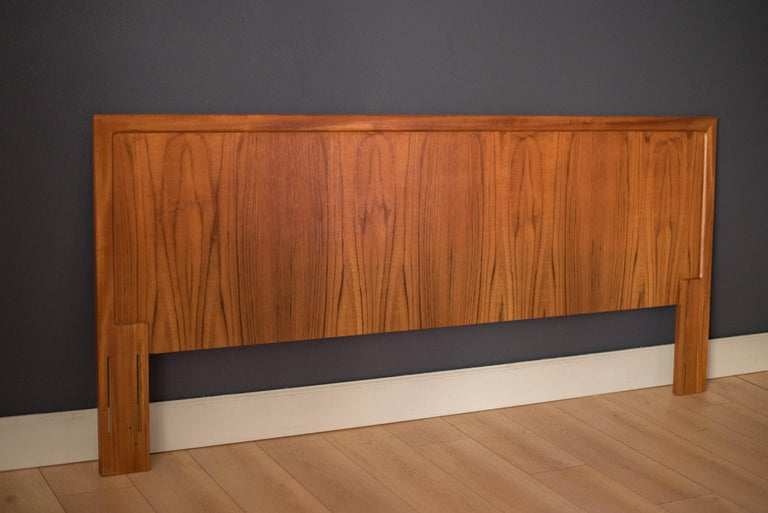 Scandinavian Modern Vintage Danish Teak King Headboard by Arne Wahl Iversen for Vinde Mobelfabrik