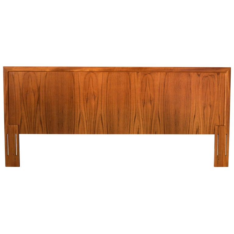 Vintage Danish Teak King Headboard by Arne Wahl Iversen for Vinde Mobelfabrik