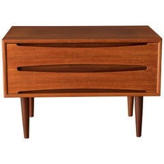 Vintage Danish Teak Low Chest of Drawers