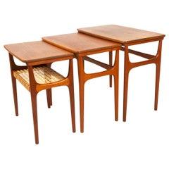 Vintage Danish Teak Nesting Tables by Erling Torvits for Heltborg Møbler 1950s
