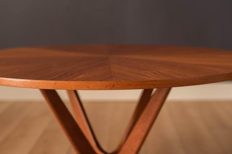 Vintage Danish Teak Occasional Coffee Table by Søren Georg Jensen for Kubus For Sale 9