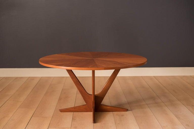 Scandinavian Modern Vintage Danish Teak Occasional Coffee Table by Søren Georg Jensen for Kubus For Sale