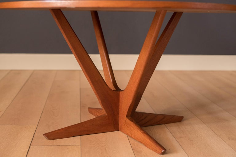 Mid-20th Century Vintage Danish Teak Occasional Coffee Table by Søren Georg Jensen for Kubus For Sale