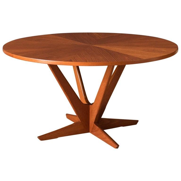 Vintage Danish Teak Occasional Coffee Table by Søren Georg Jensen for Kubus For Sale