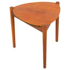 Vintage Danish Teak Side Table and Stool by Hans Olsen, 1950s