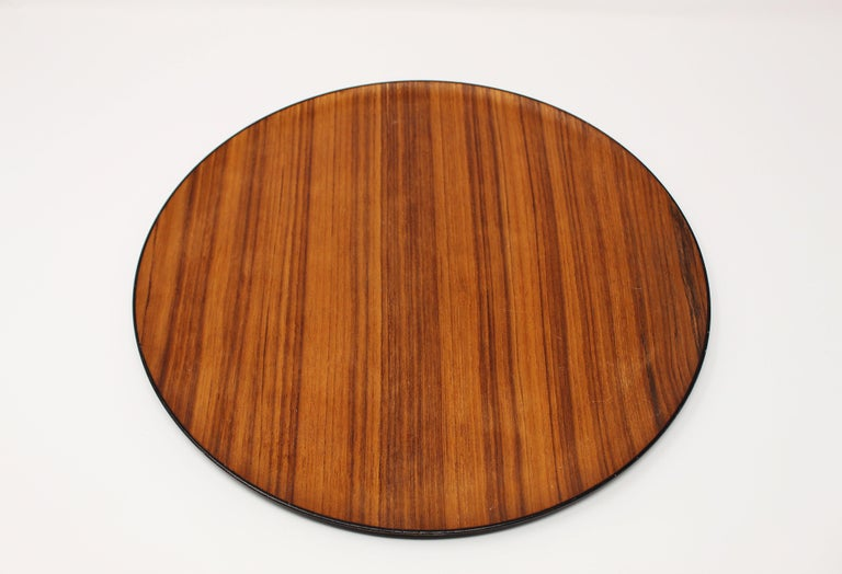 Great Mid-Century Modern, Scandinavian teak tray. The grain is lovely and has regular patina as pictured.