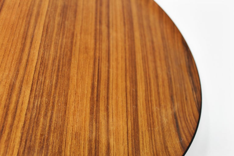 Vintage Danish Teak Tray, Beautiful Wood Grain In Distressed Condition For Sale In San Diego, CA