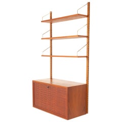 Vintage Danish Teak Wall Unit by Poul Cadovius, 1960s