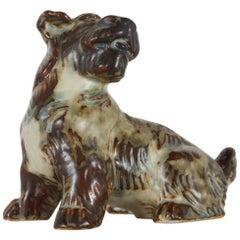 Vintage Danish Terrier Figurine by Knud Kyhn for Royal Copenhagen, 1955