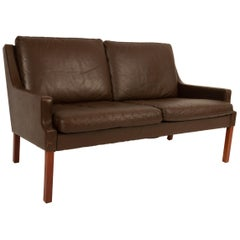 Vintage Danish Two-Seat Leather Sofa by Georg Thams for Vejen Møbelfabrik, 1970