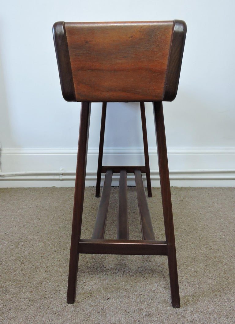 Mid-20th Century Vintage Danish Walnut Planter Jardiniere Stand, 1950s For Sale