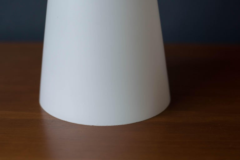 Vintage Danish White Glass Pendant Lamp by Holmegaard For Sale 2