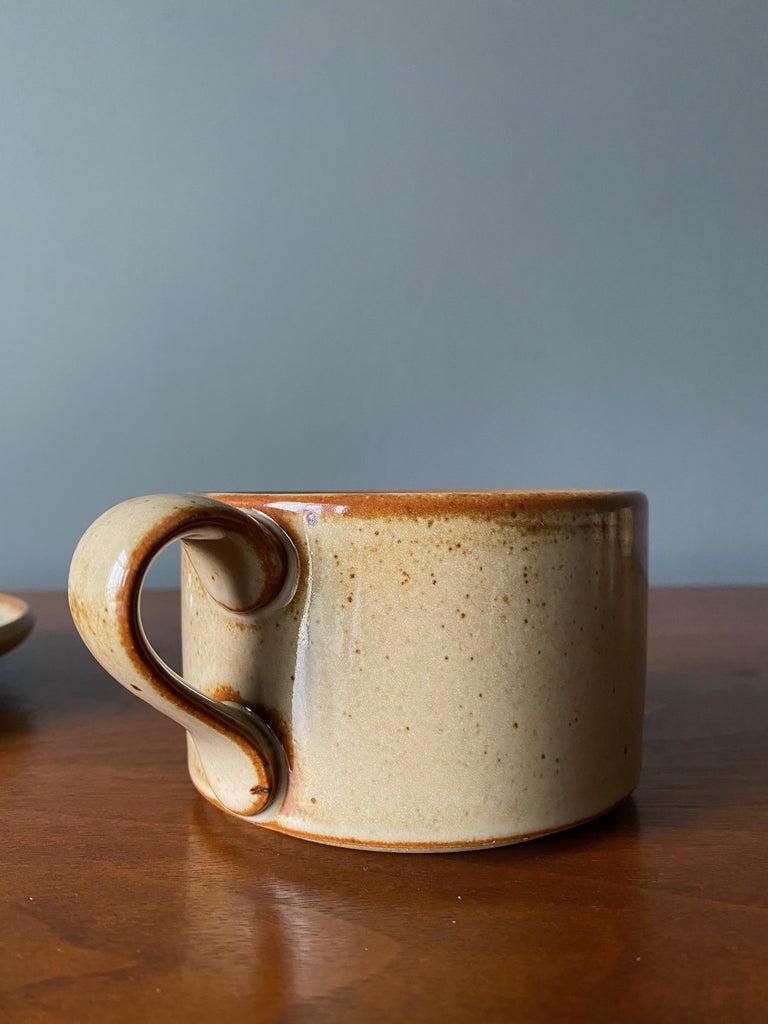 Vintage Dansk Ceramic Coffee Cup and Saucer Set of 8 For Sale 6