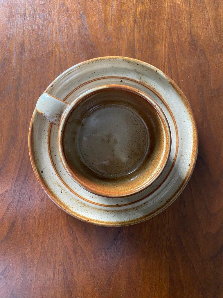 Vintage Dansk Ceramic Coffee Cup and Saucer Set of 8 For Sale 7
