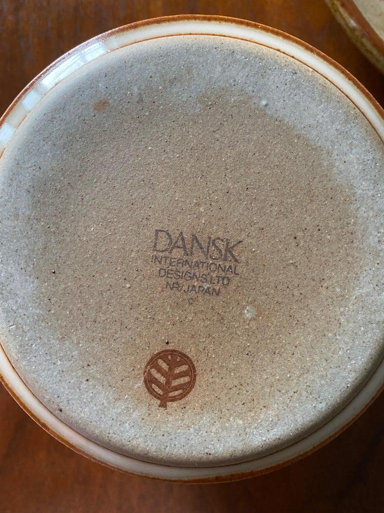 Vintage Dansk Ceramic Coffee Cup and Saucer Set of 8 For Sale 8