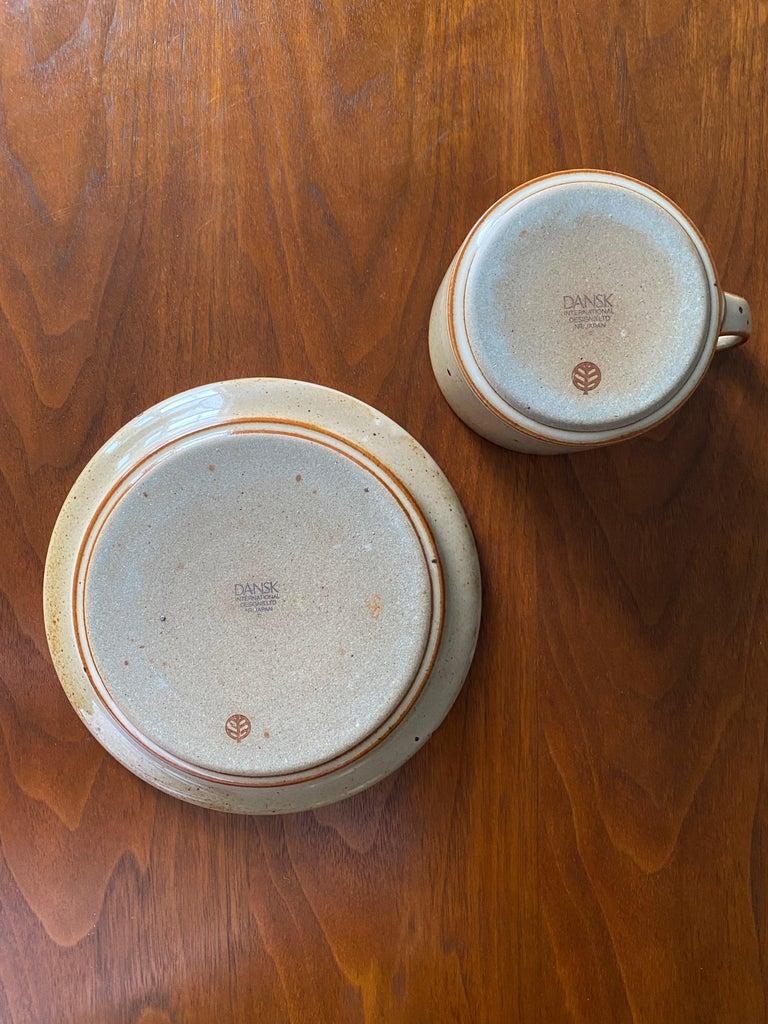 Vintage Dansk Ceramic Coffee Cup and Saucer Set of 8 For Sale 9