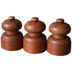 Vintage Dansk Salt and Pepper Mills by Jens Quistgaard