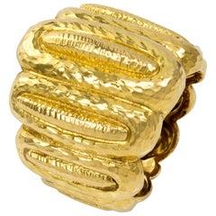 Vintage David Webb Hammered Gold Band Ring