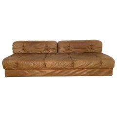 Vintage Daybed Sofa by Wittmann Model 'Atrium', Cognac Leather, Austria, 1970