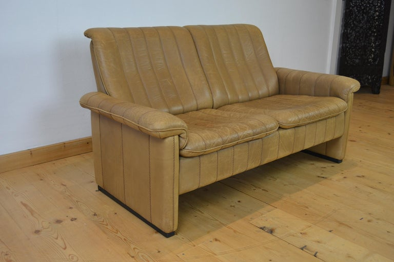 Vintage De Sede 2-Seat Sofa, Brown Leather, Switserland , 1970s For Sale 6