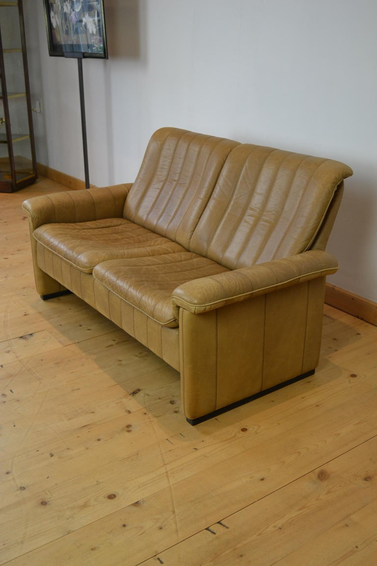 Vintage De Sede 2-Seat Sofa, Brown Leather, Switserland , 1970s For Sale 8