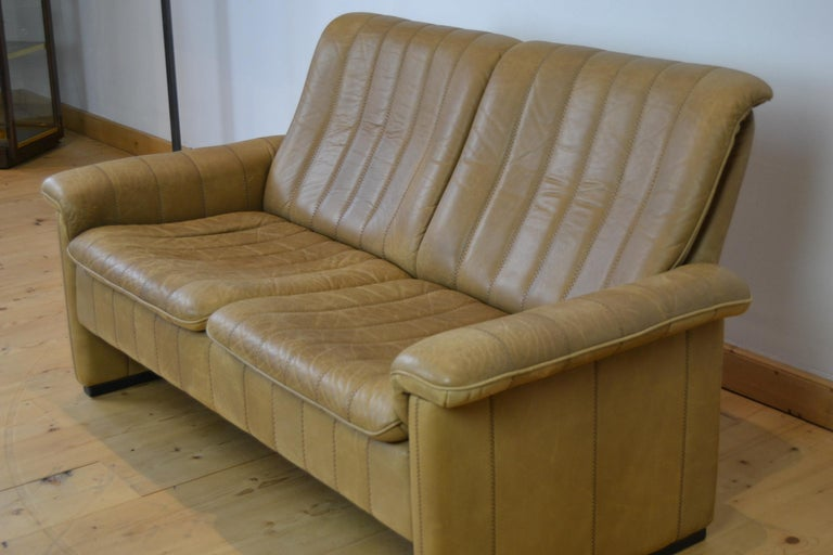 Vintage De Sede 2-Seat Sofa, Brown Leather, Switserland , 1970s For Sale 9