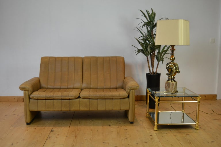Vintage De Sede 2-Seat Sofa, Brown Leather, Switserland , 1970s For Sale 10