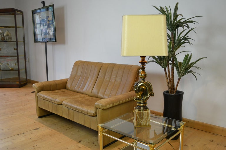 Swiss Vintage De Sede 2-Seat Sofa, Brown Leather, Switserland , 1970s For Sale