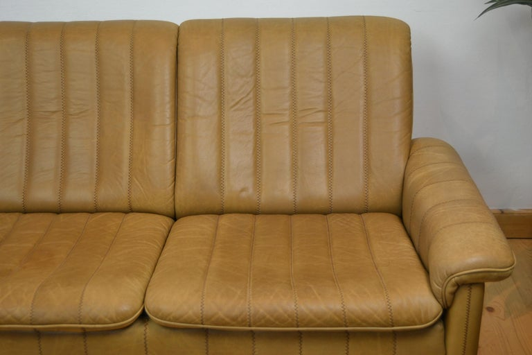 20th Century Vintage De Sede 2-Seat Sofa, Brown Leather, Switserland , 1970s For Sale
